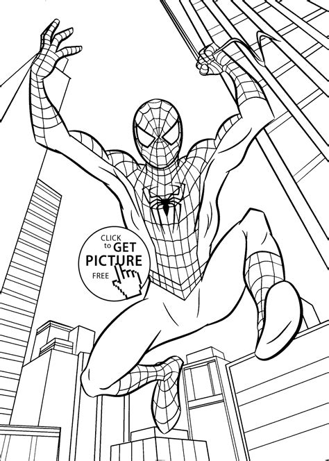 Free Printable Coloring Sheets For Kids Spiderman Cartoons