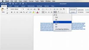 How To Double Space In Microsoft Word