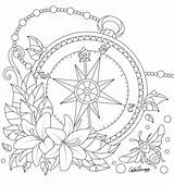 Coloring Pages Colouring Compass Mandala Adult Tattoo Pattern Sheets Printable Drawing Tattoos Print Creative Cool Painting Wicked Line Books Flowers sketch template