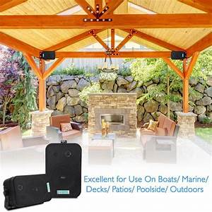 pyle home pdwr40b 525 inch indoor outdoor waterproof With outdoor lighting system with built in speakers for decks and patios