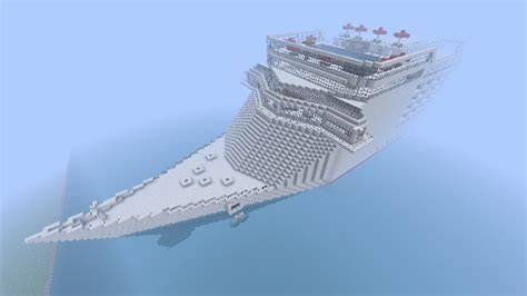 Carnival Miracle Biggest Cruise Ship In Minecraft [One Of Them At Least (] Minecraft Project