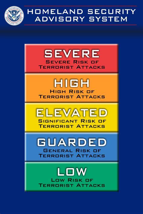 alert colors homeland security advisory system