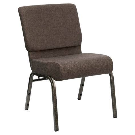 brown 21 quot wide church chair with gold vein frame