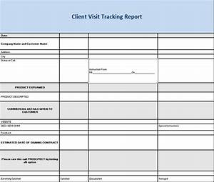 Client Visit Tracking Report Template