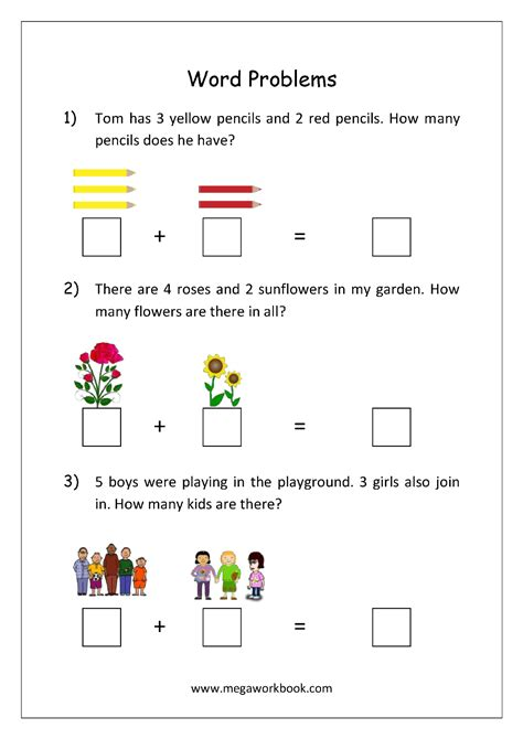 free math worksheets word problems for addition and