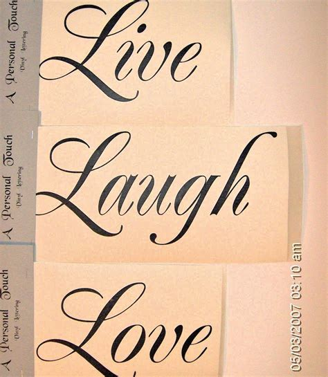 diy live laugh love wall decal vinyl lettering wall word