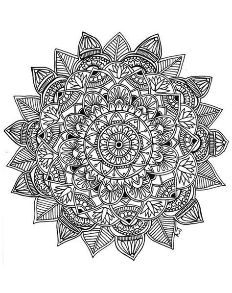 Mandala 8.5x11 ink drawing, card-stock print | Products | Drawings, Pencil drawings, Mandala