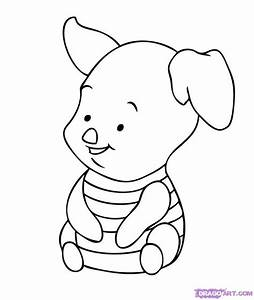 Baby Tigger Coloring Pages | How to Draw Baby Piglet, Step ...