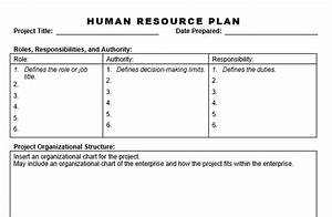 human resource plan planning engineer With human resource management plan template