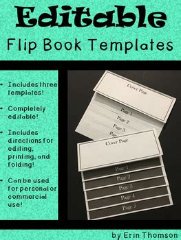 editable flip book templates personal  commercial