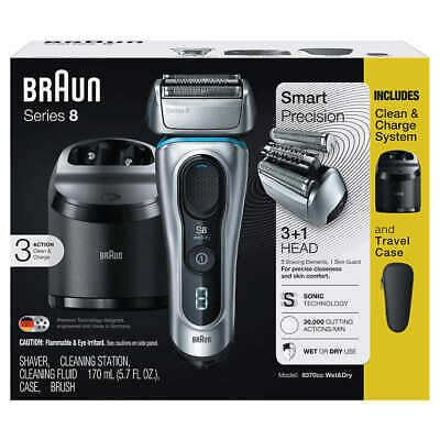 braun series 8 braun series 8 electric shaver with clean charge