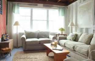 Nautical Living Room Sofas a coastal cottage living room