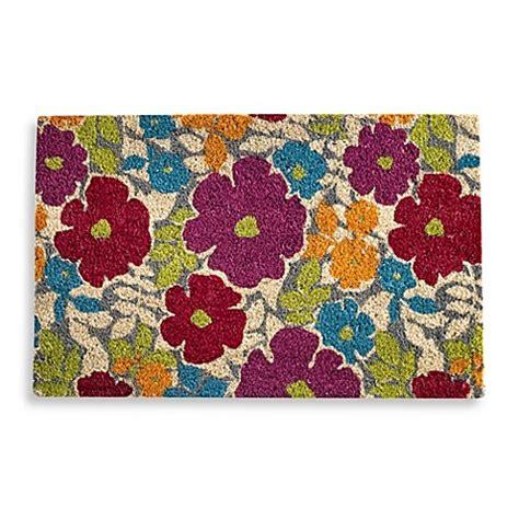 flower doormat flower power door mat bed bath beyond