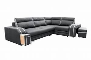 Deine Möbel 24 : wohnlandschaft eckgarnitur sofa andreas mit schlaffunktion bettkasten und hocker ebay ~ Indierocktalk.com Haus und Dekorationen