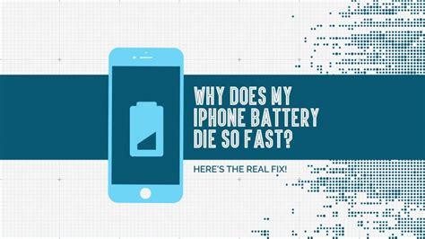 iphone battery dying fast why does my iphone battery die so fast here s the real fix 1089