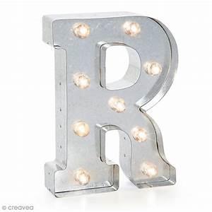 Lettre Metal Vintage : lettre lumineuse en m tal vintage r 25 x 18 5 x 4 5 cm lettre lumineuse led creavea ~ Teatrodelosmanantiales.com Idées de Décoration