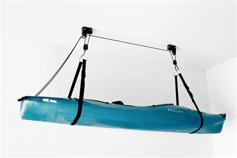 kayak and canoe hoist ceiling rack storeyourboardcom