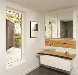 guest bathrooms ideas waschtisch aus holz für aufsatzwaschbecken bauen