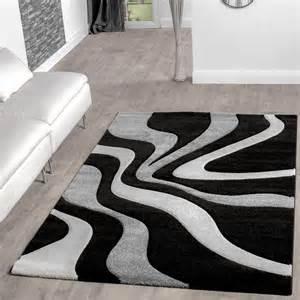 wohnzimmer schwarz weiß teppich schwarz weiß grau wohnzimmer teppiche modern mit konturenschnitt moderne teppiche