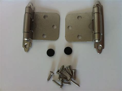flush mount cabinet hinges dull chrome self closing flush mount cabinet hinges pair