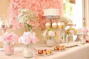 dainty pink bridal shower decorations diy wedding With wedding shower decoration ideas