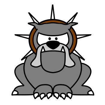drawing  cartoon bulldog