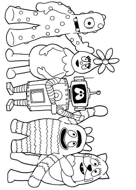 yo gabba gabba coloring pages  coloring  kids