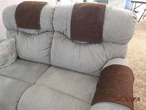 Custom made chair headrest arm covers available www for Chair back covers for leather chairs