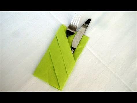 servietten falten bestecktasche falten einfache