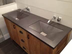 bathroom sinks ideas charcoal gray bathroom concrete vanity top dual sinks