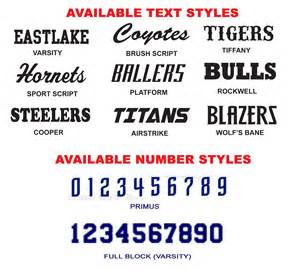 Baseball Jersey Number Font