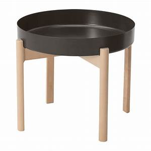 ypperlig coffee table dark grey birch 50 cm ikea With table basse largeur 40 cm