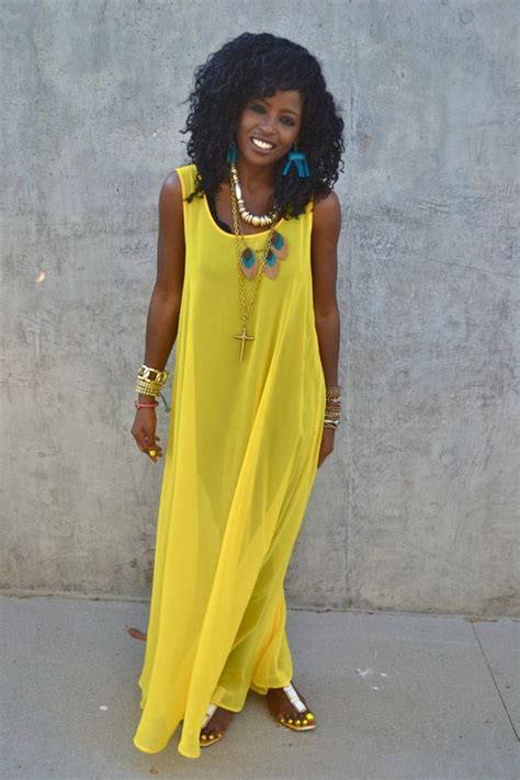 yellow maxi ideas  pinterest yellow maxi