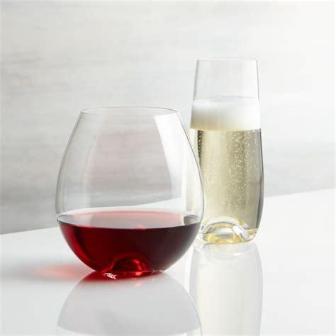 lulie stemless wine glasses crate  barrel