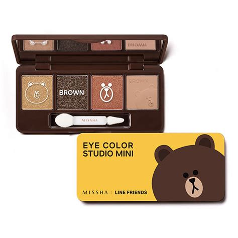 Jual Missha X Line missha x line friends eye color studio mini 02 brown