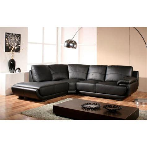canapé cuir noir design canapé design angle gauche cuir noir mozart achat