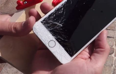 iphone 6 screen cracked iphone 6 and iphone 6 plus drop test hint it cracks