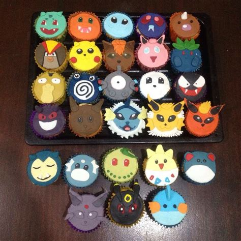 pokemons cupcakes cupcake pokemon pinterest pokemon
