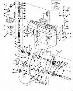 Evinrude Gearcase Manual Start Parts For 1973 50hp 50373r