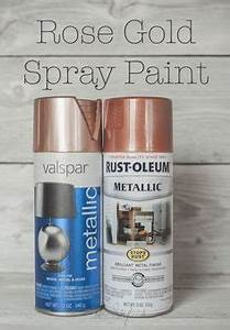 Rose Gold Sprühlack : valspar metallische spr hfarbe and rotgold on pinterest ~ Avissmed.com Haus und Dekorationen