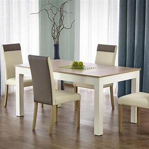 Table Salle A Manger 160 3009076cm Bois Blanc Avec