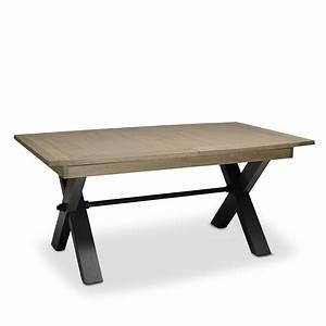 Table Plateau Bois : table plateau bois style atelier collection magellan ~ Teatrodelosmanantiales.com Idées de Décoration