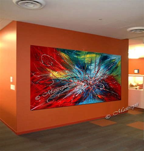 Moderne Acrylbilder Auf Keilrahmen by Modern Abstract Painting Colorful Acrylic On Canvas By