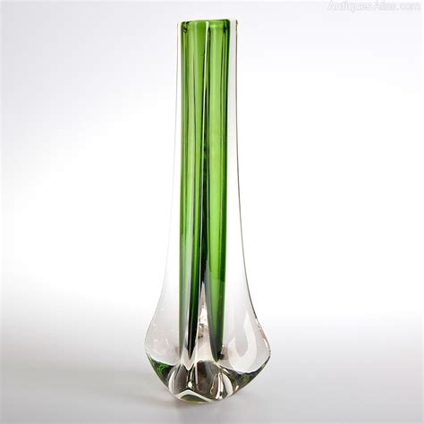 Whitefriars Glass Vase by Antiques Atlas Whitefriars Green Glass Vase