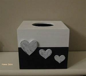 Boite Mouchoir Deco : boite a mouchoir carr noir et blanc home deco ~ Melissatoandfro.com Idées de Décoration