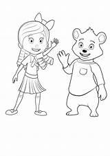 Goldie Bear Coloring Dourados Cachinhos Desenhos Ursinho Colorir Goldi Raskraski Disegni Colorare Disney Cartoon Apri Immagine Popular Sognidoro sketch template