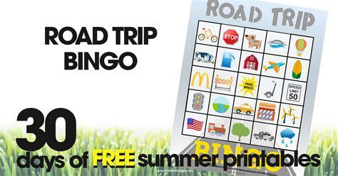 road trip bingo  summer printable game  kids