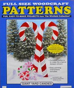 Giant Yard Candies Wood Craft Pattern by DocHolidays on Etsy