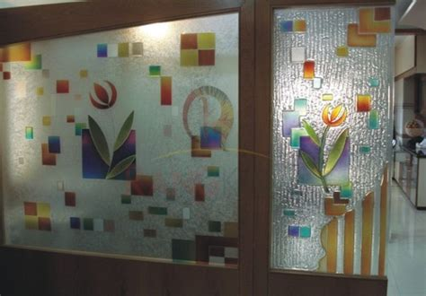 glass painting designs for kitchen designer glass partition with fusion glass at rs 400 6842