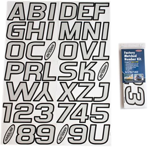 Boat Registration Lettering Size by Silver Black Boat Lettering Registration Numbers 700